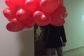 Poczta balonowa - balon w kształcie serca