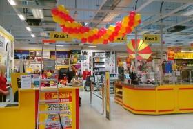 Girlanda z balonów na otwarciu sklepu