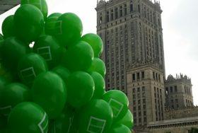 Poczta balonowa przy pałacu kultury w Warszawie