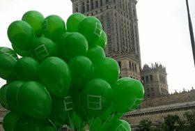 Warszawa - balony z helem