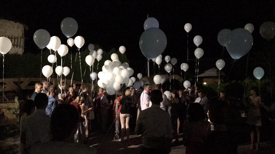 Balony LED na wesele