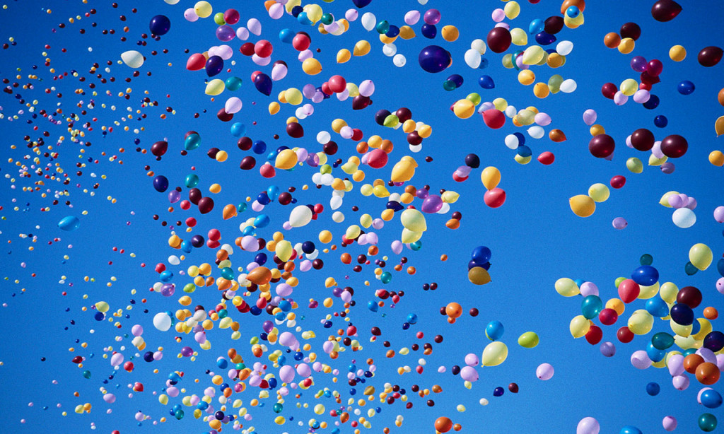 Wypuszczanie balonów z siatki
