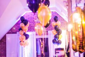Dekoracja z balonów z helem