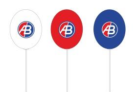 Kolorowe balony z nadrukiem