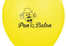 Pan Balon - żółty balon z nadrukiem