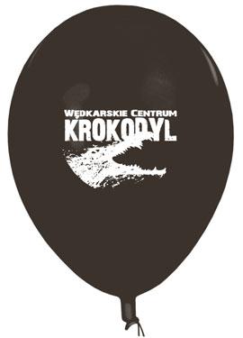 Czarny balon z białym logo
