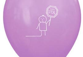 Różowy balon z nadrukowanym obrazkiem