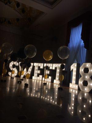 Balony z Helem 18 urodziny