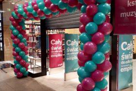 Brama z balonów z helem Empik