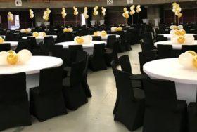 Dekoracja z balonów - stoliki