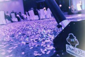 Dekoracje balonowe i pokaz konfetti