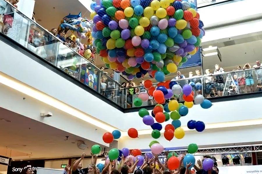 Balony Wrocław - zdjecie balonowy-wodospad