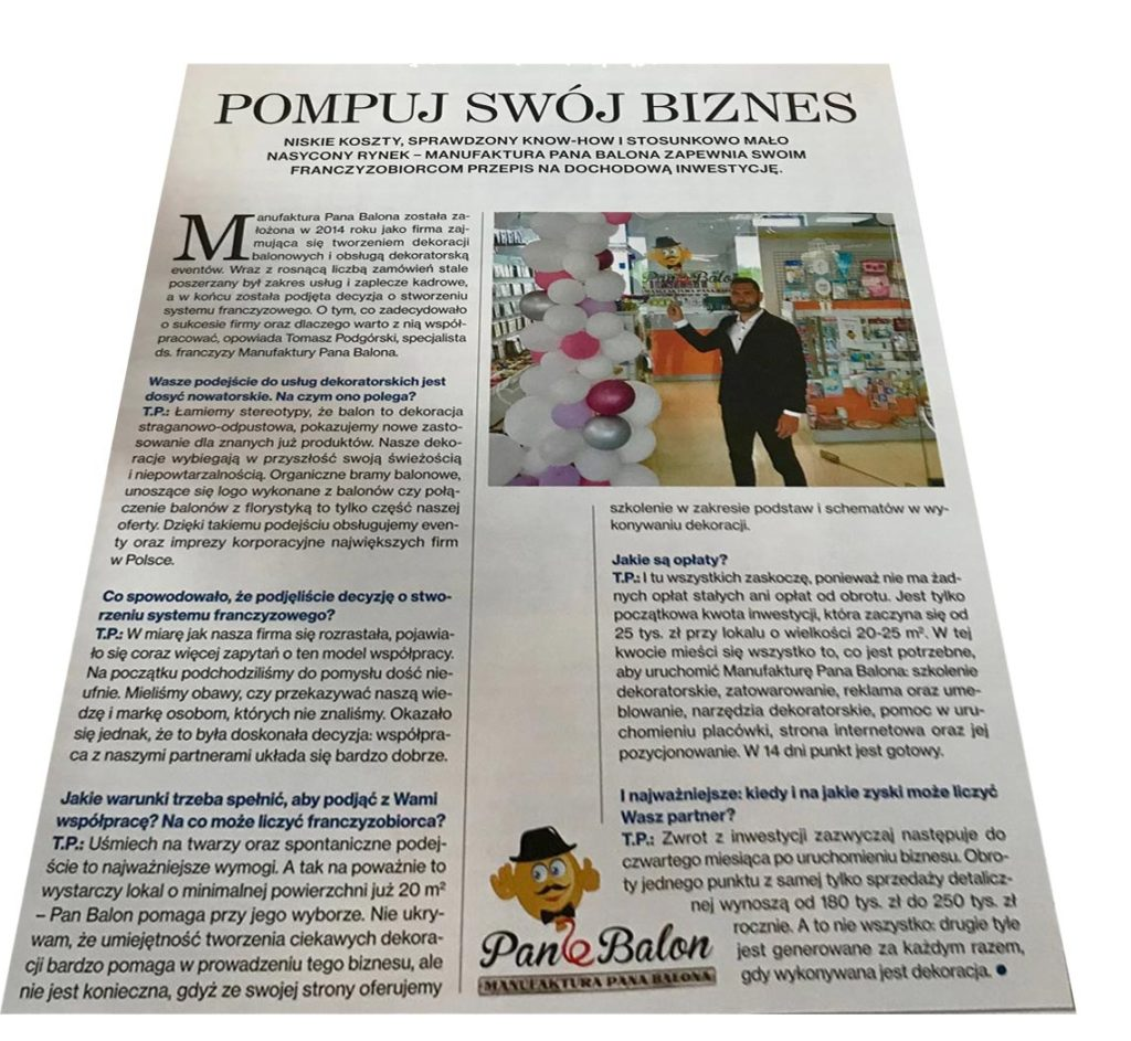 Balony Wrocław - zdjecie pan-balon-franczyza-2