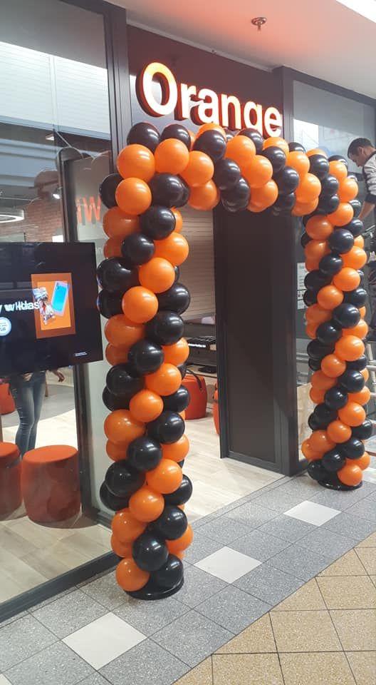 Balony Wrocław - zdjecie brama-balonowa-orange-13
